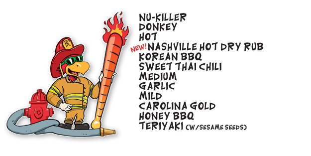 Roosters Sauce Heat Scale