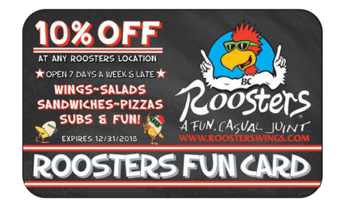 picture about Roosters Wings Printable Coupons called Fundraising Possibility » Roosters Wings